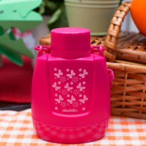 Cantil Térmico Rosa Borboletas (Marca Aladdin) – 300 ml