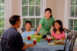 Alimentação saudável em família